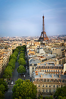 Aerial photo of the Eiffel Tower in Paris, France