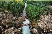 Falda acquifera nell'area di campagna dove sarebbero state sversate tonnellate di rifiuti della Camorra, nelle immediate vicinanze di Ordona in provincia di Foggia, Ordona 29 Aprile 2014.  Christian Mantuano / OneShot