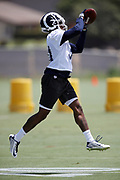 Los Angeles Rams cornerback Taurean Nixon (31) leaps and catches a pass during the Los Angeles Rams NFL football camp on Monday, June 4, 2018 in Thousand Oaks, Calif. (©Paul Anthony Spinelli)