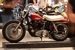 Revival Cycles' Alec Padron's 1966 XLCH Ironhead Sportster. Ironhead Sportster at the Handbuilt Show. Austin, Austin USA. Sunday, April 14, 2019. Photography ©2019 Michael Lichter.
