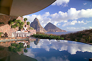 The new infinity suite with stellar views of the Pitons at Jade Mountain at the Anse Chastanet Resort, St. Lucia