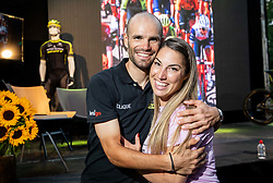 Luka and his girlfriend Tanja at Reception of Slovenian rider Luka Mezgec after  he finished his first Tour de France 2020 and placed second at 2 stages, on September 21, 2020 in Joze Plecnik garden, Ljubljana, Slovenia. Photo by Vid Ponikvar / Sportida