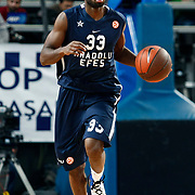 Anadolu Efes's Oliver Lafayette during their Turkish Airlines Euroleague Basketball Top 16 Group E Game 4 match Anadolu Efes between Olympiacos at Sinan Erdem Arena in Istanbul, Turkey, Wednesday, February 08, 2012. Photo by TURKPIX