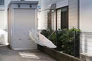open umbrellas hanging to dry Yokosuka Japan