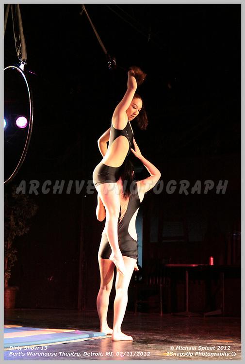 DETROIT, MI, SATURDAY, FEB. 11, 2012: Dirty Show 13, Shadow and Lady Fuchsia at Bert's Warehouse Theatre, Detroit, MI, 02/11/2012.  (Image Credit: Michael Spleet / 2SnapsUp Photography)