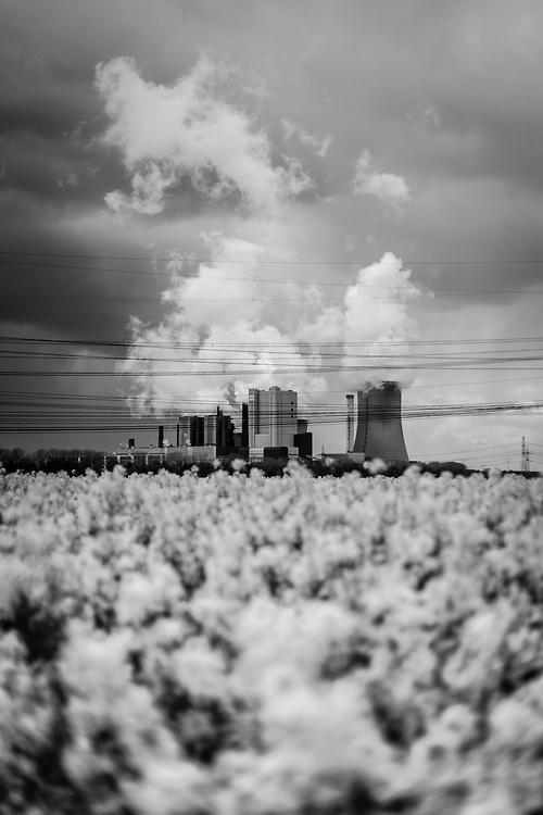 Bergheim, DEU, 14.04.2014<br /> <br /> Das Braunkohlekraftwerk Niederaussem, ein von der RWE Power AG mit Braunkohle betriebenes Grundlastkraftwerk in Bergheim-Niederaußem (Rhein-Erft-Kreis) im Rheinischen Braunkohlerevier, ist das zweitleistungsstaerkste Kraftwerk Deutschlands.<br /> <br /> The lignite-fired power station Niederaussem, a base-load power plant operated by RWE Power AG with lignite in Bergheim-Niederaussem (Rhein-Erft-Kreis) in the Rhenish lignite mining district, is the second largest power station in Germany.<br /> <br /> Foto: Bernd Lauter/berndlauter.com