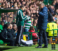 05/11/15 UEFA EUROPA LEAGUE GROUP STAGE<br /> CELTIC v MOLDE FK<br /> CELTIC PARK - GLASGOW<br /> Thumbs up from Molde manager Ole Gunnar Solksjaer