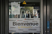 """April, 20th 2020 - Paris, Ile-de-France, France: Macdonalds closed during the spread of the Coronavirus, during the first month of near total lockdown imposed in France. A week after President of France, Emmanuel Macron, said the citizens must stay at home for at least 15 days, that has been extended. He said """"We are at war, a public health war, certainly but we are at war, against an invisible and elusive enemy"""". All journeys outside the home unless justified for essential professional or health reasons are outlawed. Anyone flouting the new regulations is fined. Nigel Dickinson"""