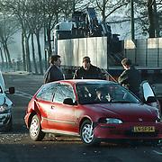 Ongeval Blaricummerstraat - Dr. Lelylaan Huizen, vrachtwagen + 2 personenauto's