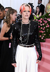 "Kristen Stewart at the 2019 Costume Institute Benefit Gala celebrating the opening of ""Camp: Notes on Fashion"".<br />
