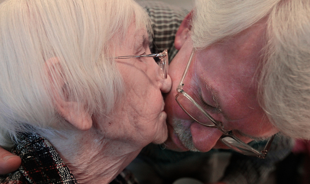 """Steve LeNoir visits his mother every week at an assisted living home. """"It was the hardest decision I ever had to make but I know she better off here than being alone at home."""""""