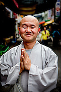 Portrait of a Buddhist Monk in Gongju, South Korea.
