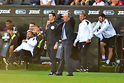 Queens Park Rangers manager Steve McClaren  has his hands on his head during the EFL Sky Bet Championship match between Swansea City and Queens Park Rangers at the Liberty Stadium, Swansea, Wales on 29 September 2018.