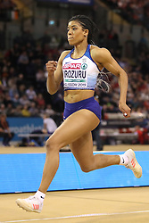 Great Britain's Abigail Irozuru during the Women's Long Jump during day three of the European Indoor Athletics Championships at the Emirates Arena, Glasgow.