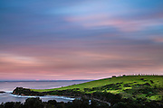 View of coastal farmland near Gerringong, South Coast of NSW, Australia.