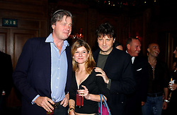 Left to right, the MARQUESS OF WORCESTER, MISS NESTA FITZGERALD and LORD JOHNSTON SOMERSET at a party hosted by Tatler magazine to celebrate the publication of the 2004 Little Black Book held at Tramp, 38 Jermyn Street, London SW1 on 10th November 2004.<br />