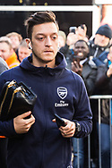Mesut Ozil (Arsenal) arriving at the Stadium ahead of the Premier League match between Bournemouth and Arsenal at the Vitality Stadium, Bournemouth, England on 25 November 2018.