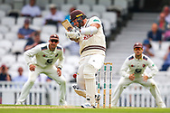 Jordan Clark of Surrey during the Specsavers County Champ Div 1 match between Surrey County Cricket Club and Kent County Cricket Club at the Kia Oval, Kennington, United Kingdom on 10 July 2019.
