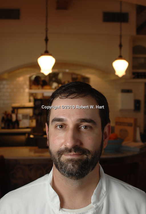 Lucia restaurant owner and chef, David Uygur, in the dining room on Dec. 15, 2010 at 408 W. 8th. St., in the Bishop Arts District of Dallas' Oak Cliff neighborhood.