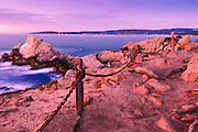 Sunset at Pinnacle Cove, Point Lobos State Reserve, Carmel, California USA