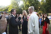 David Cameron, Charlotte wheeler and Stuart Wheeeler, Conservative Party, Summer party, Royal Hospital Chelsea, Royal Hospital Road, London, SW3,3 July 2006. ONE TIME USE ONLY - DO NOT ARCHIVE  © Copyright Photograph by Dafydd Jones 66 Stockwell Park Rd. London SW9 0DA Tel 020 7733 0108 www.dafjones.com