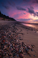 An explosion of color at sunset -<br /> Pictured Rocks National Lakeshore