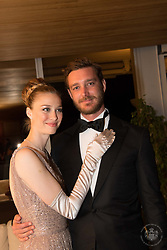 Pierre Casiraghi and Beatrice Casiraghi attend the Rose Ball 2019 at Sporting in Monaco, Monaco.<br /> Photo by Palais Princier/Gaetan Luci/SBM/ABACAPRESS.COM