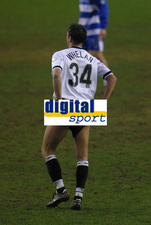 Photo: Jo Caird<br /> Reading v Derby<br /> Madejski Stadium<br /> Nationwide Div 1 2004<br /> 31/01/2004.<br /> <br /> Noel Whelan incites the crowd