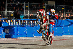 13.03.2016, Assen, BEL, FIM Eisspeedway Gladiators, Assen, im Bild Dimitry Khomitsevich (RUS) // during the Astana Expo FIM Ice Speedway Gladiators World Championship in Assen, Belgium on 2016/03/13. EXPA Pictures © 2016, PhotoCredit: EXPA/ Eibner-Pressefoto/ Stiefel<br /> <br /> *****ATTENTION - OUT of GER*****