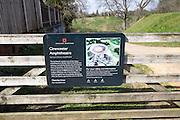 Roman amphitheatre sign, Cirencester, Gloucestershire, England, UK
