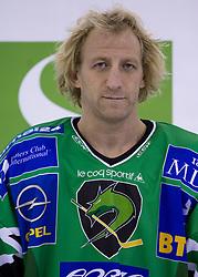 Tomaz Vnuk of HDD Tilia Olimpija before new season 2008/2009,  on September 17, 2008 in Arena Tivoli, Ljubljana, Slovenia. (Photo by Vid Ponikvar / Sportal Images)