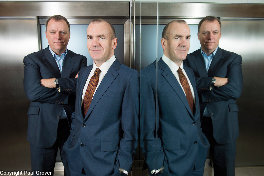 Fea0051802. DT Business. Terry Leahy former CEO of Tesco (r) and Andy Higginson former Financial Director of Tesco