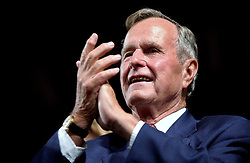Former President George Bush attends the Republican National Convention at the Madison Square Garden in New York on August 30, 2004. Photo by Olivier Douliery/ABACA.