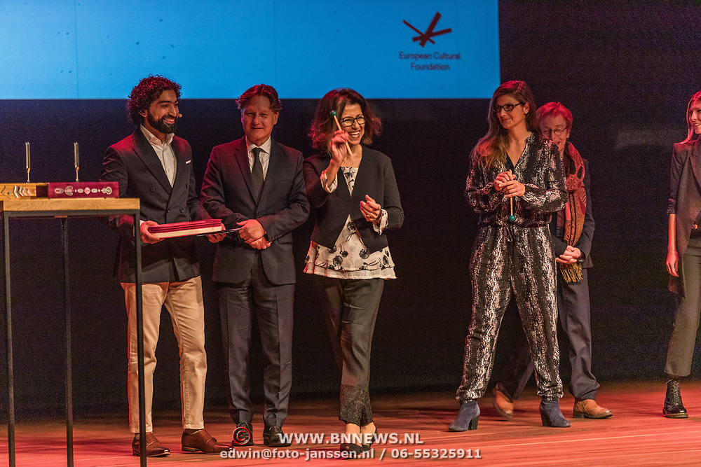 NLD/Amsterdam/20191002 - Laurentien bij ECF Princess Margriet Award for Culture, Laureaten The laureates of the 2019 ECF Princess Margriet Award for Culture are Ahdaf Soueif (Cairo/London) & City of Women (Ljubljana).