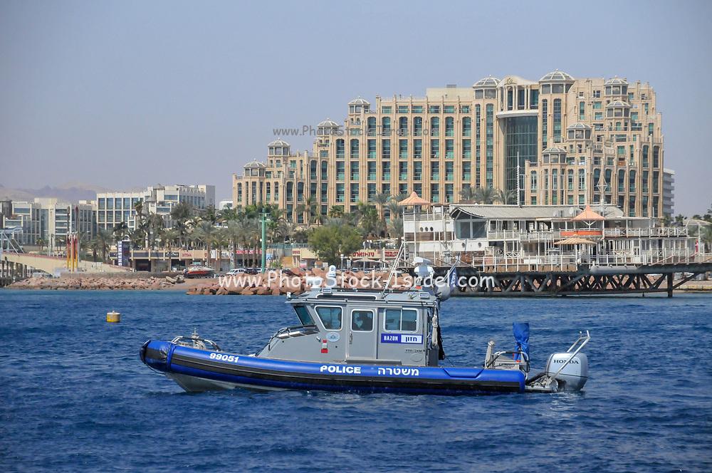 Israeli Police boat in the Eilat, Israel