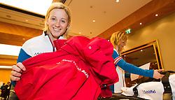 28.01.2014,  Marriott, Wien, AUT, Sochi 2014, Einkleidung OeOC, im Bild Michaela Kirschgasser (Ski Alpin, AUT) // Michaela Kirschgasser (Ski Alpine, AUT) during the outfitting of the Austrian National Olympic Committee for Sochi 2014 at the  Marriott in Vienna, Austria on 2014/01/28. EXPA Pictures © 2014, PhotoCredit: EXPA/ JFK