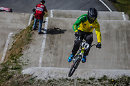 #44 (DEAN Anthony) AUS during round 4 of the 2017 UCI BMX  Supercross World Cup in Zolder, Belgium.