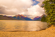 Cloudy Afternoon on Lake McDonald in Glacier National Park