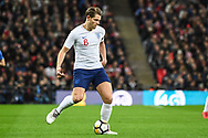 England Defender James Tarkowski (6) in action during the Friendly match between England and Italy at Wembley Stadium, London, England on 27 March 2018. Picture by Stephen Wright.