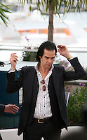 Nick Cave at the Lawless film photocall at the 65th Cannes Film Festival. The screenplay for the film Lawless was written by Nick Cave and Directed by John Hillcoat. Saturday 19th May 2012 in Cannes Film Festival, France.