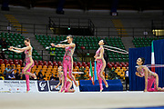 "Azerbaijan rhythmic gymnastics senior group during the ""7th tournament city of Desio"", 09 March 2019."