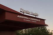 A general overall view of the Dignity Health Arizona Cardinals Traning Center amid the global coronavirus COVID-19 pandemic, Saturday, May 17, 2020, in Tempe, Ariz.