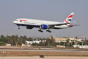 Israel, Ben-Gurion international Airport British Airways Boeing 777-236