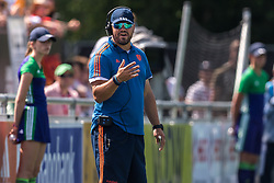 coach Max Caldas of The Netherlands during the Champions Trophy match between the Netherlands and India on the fields of BH&BC Breda on June 30, 2018 in Breda, the Netherlands