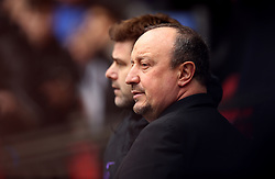 Newcastle United manager Rafael Benitez during the Premier League match at Wembley Stadium, London.