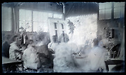 blurry in garden shed party France circa 1920s