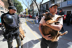 September 6, 2017 - Buenos Aires, Buenos Aires, Argentina - A major fire broke out in a tenement of La Boca neighborhood. Three firefighters were suffocated and all the residents (low income people) of the housing complex were evacuated for more than 13 fire crews. (Credit Image: © Claudio Santisteban via ZUMA Wire)