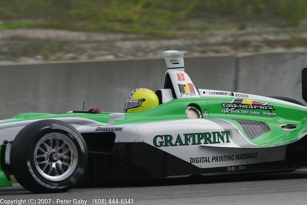 Jan Heylen during testing at the Generac Grand Prix on Fri.Aug. 10th, 2007 at Road America in Elkhart Lake, Wi.