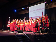 16 MARCH 2011 - PHOENIX, AZ: The Arizona Christian University choir performs for former president George W. Bush who spoke at Arizona Christian University's 50th anniversary dinner at the Phoenix Convention Center Wednesday night. Hundreds of people from progressive and social justice groups demonstrated against the former president.  PHOTO BY JACK KURTZ