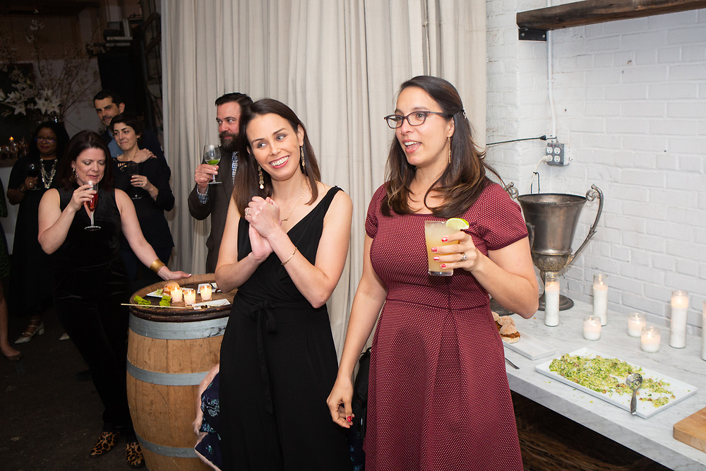 Brooklyn, NY - April 14, 2018: Marni Deutsch's 40th Birthday Party at Atelier Roquette in Red Hook.<br /> <br /> CREDIT: Clay Williams for Edible Brooklyn.<br /> <br /> © Clay Williams / http://claywilliamsphoto.com